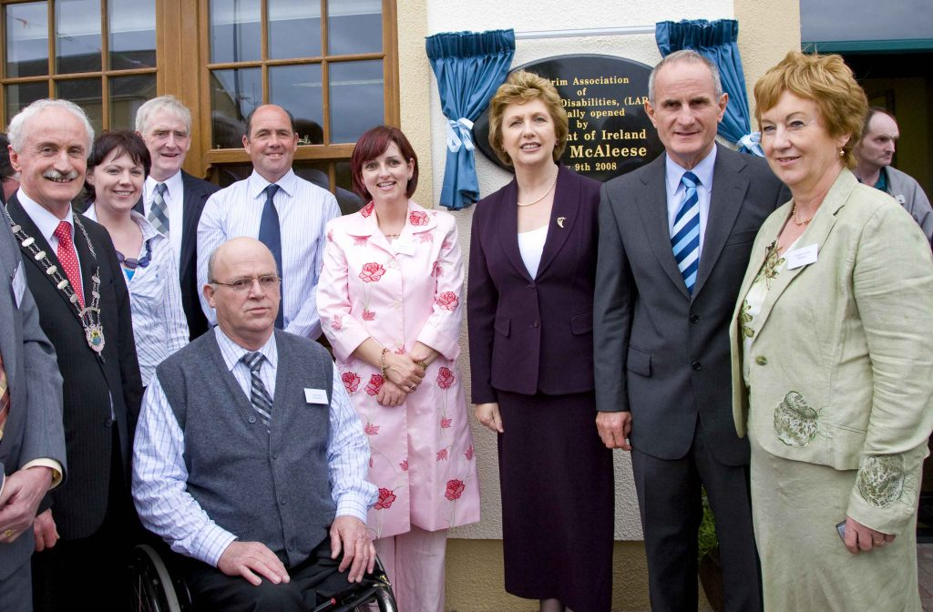 President Mary McAleese Leitrim People with Disabilities Officia