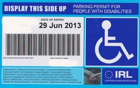 Question about Disabled Person's Parking Permit