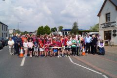 Participants lined up to start the fun run