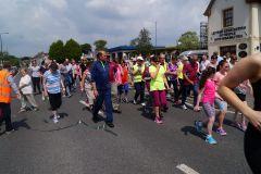 A large group of Fun Run participants