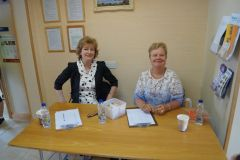 The lovely ladies manning registration