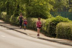 A participant runs the streets of Mohill