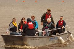 Wheelyboat with LAPWD members aboards