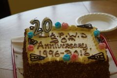 Some cake to celebrate our 20th year